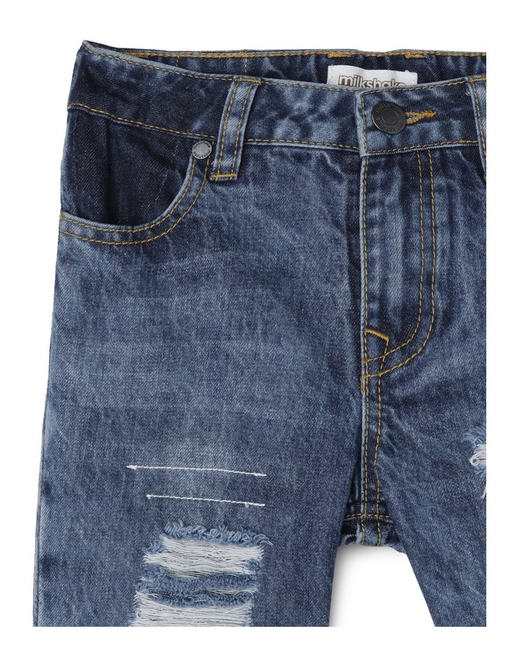 Distressed Patched Tapered Jean image 3