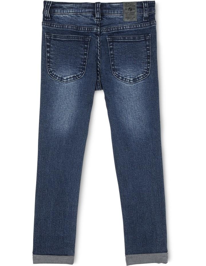 5 Pocket Jog Jean Skinny Fit- Distressed image 1
