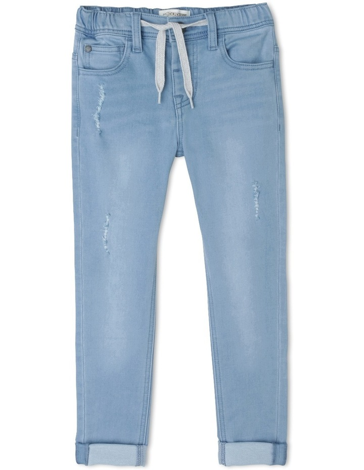Distressed Pullon Jean image 1