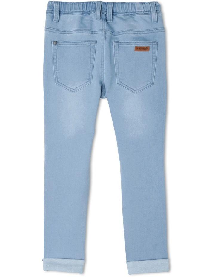 Distressed Pullon Jean image 3