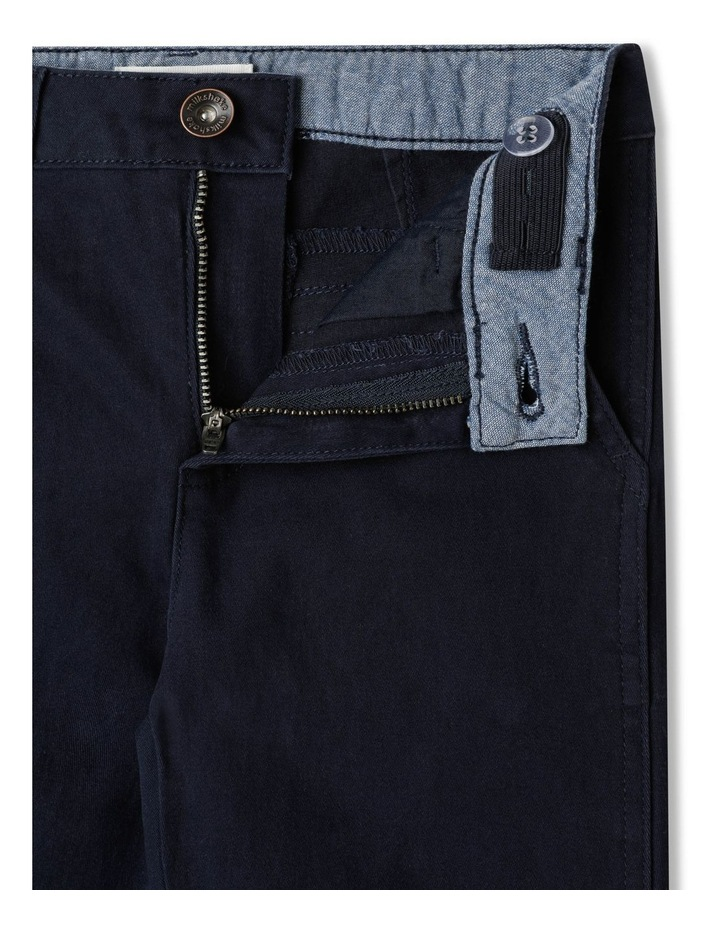 Stretch Chino Pants Navy image 3