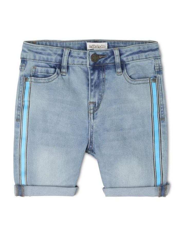Fashion Denim Short with Side Stripe image 1