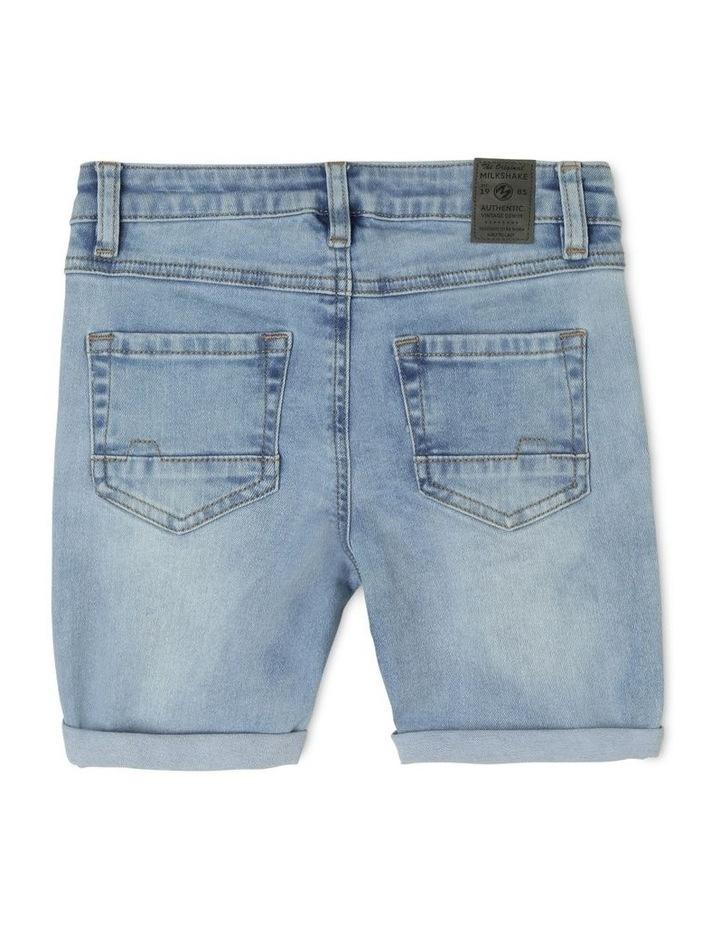 Fashion Denim Short with Side Stripe image 2