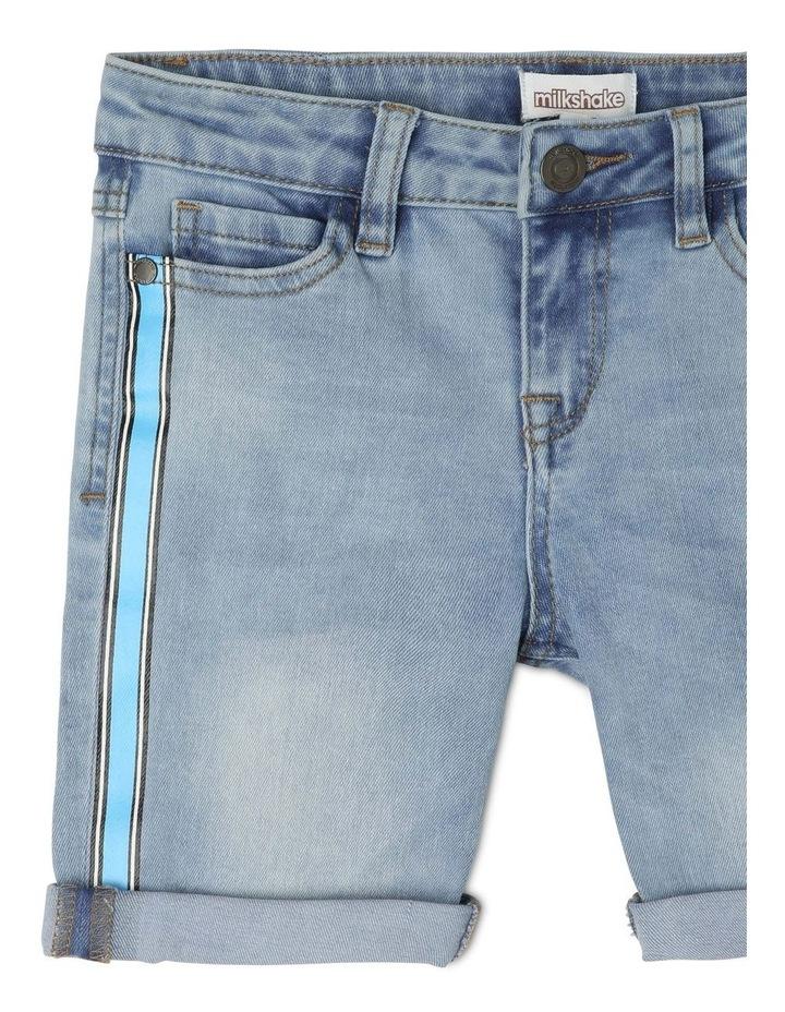 Fashion Denim Short with Side Stripe image 3