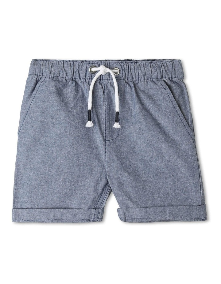 Essentials Chambray Pull On Short image 1