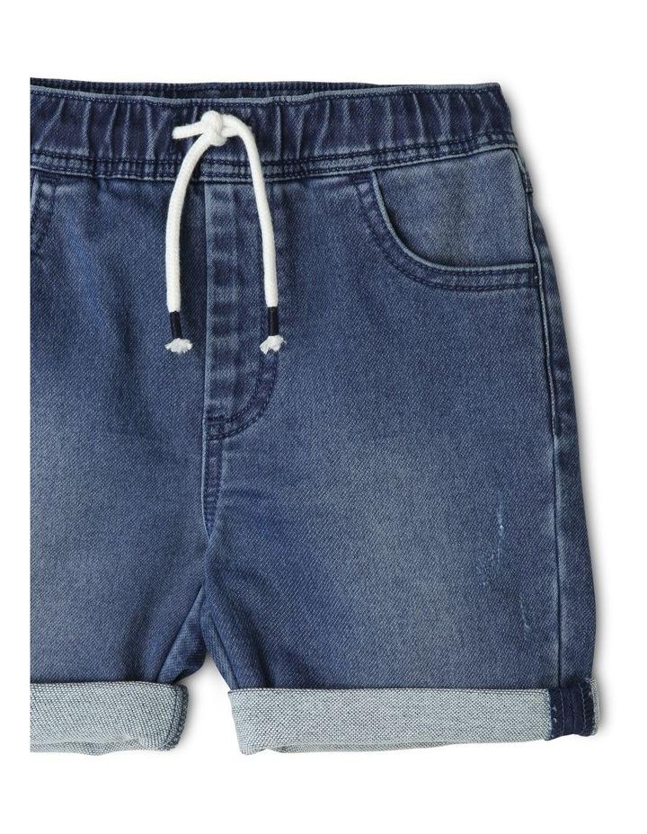 Pull On Knit Denim Short image 3