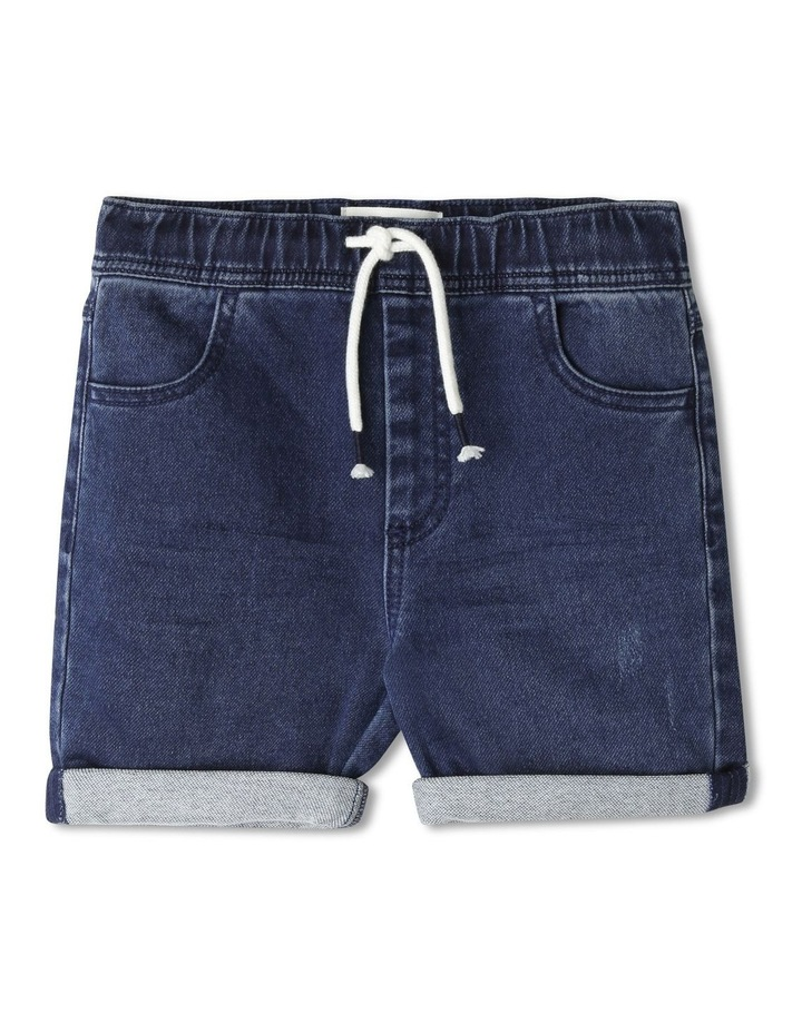 Pull-On Knit Denim Short image 1