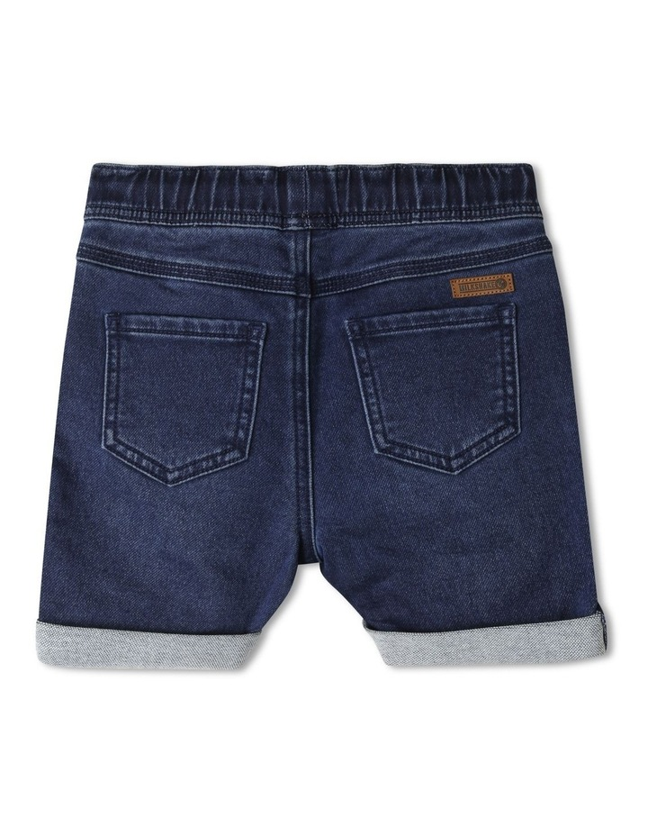 Pull-On Knit Denim Short image 2