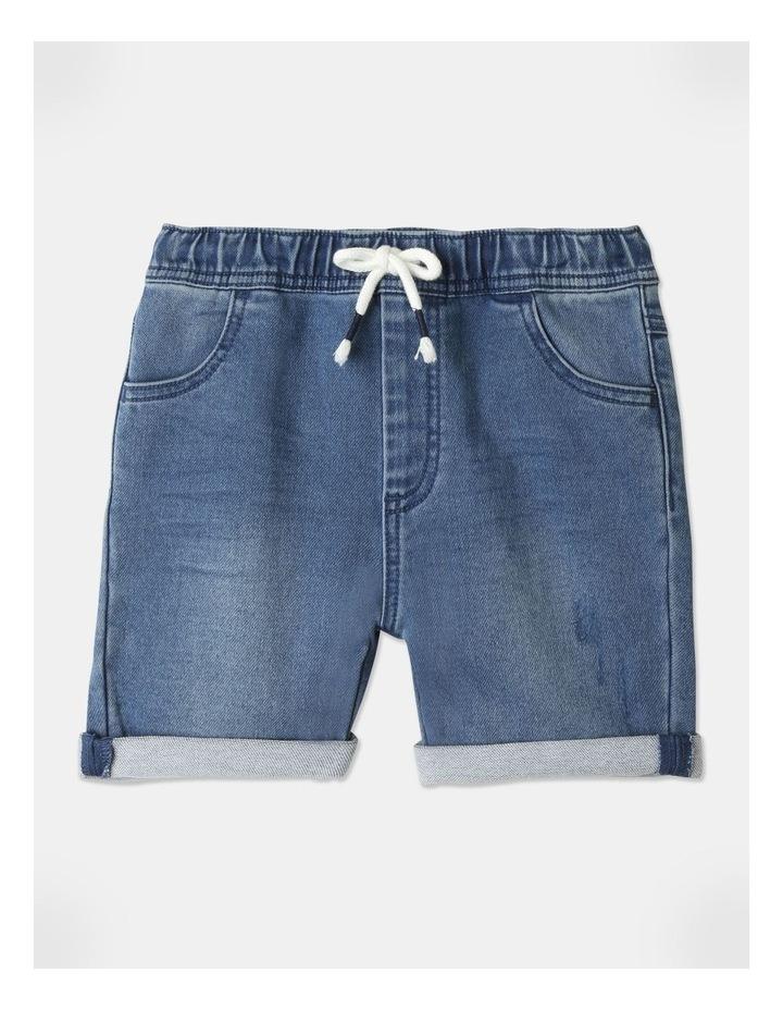 Knit Denim Shorts image 1