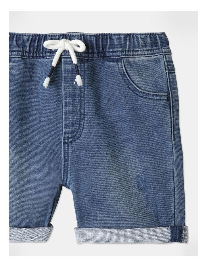 Knit Denim Shorts image 3