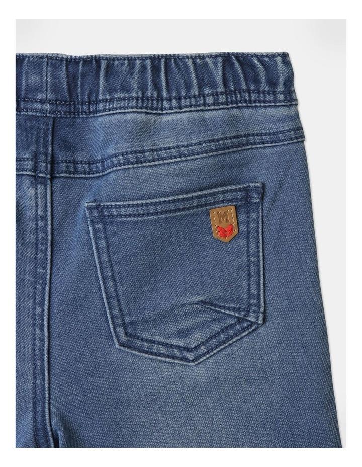 Knit Denim Shorts image 6