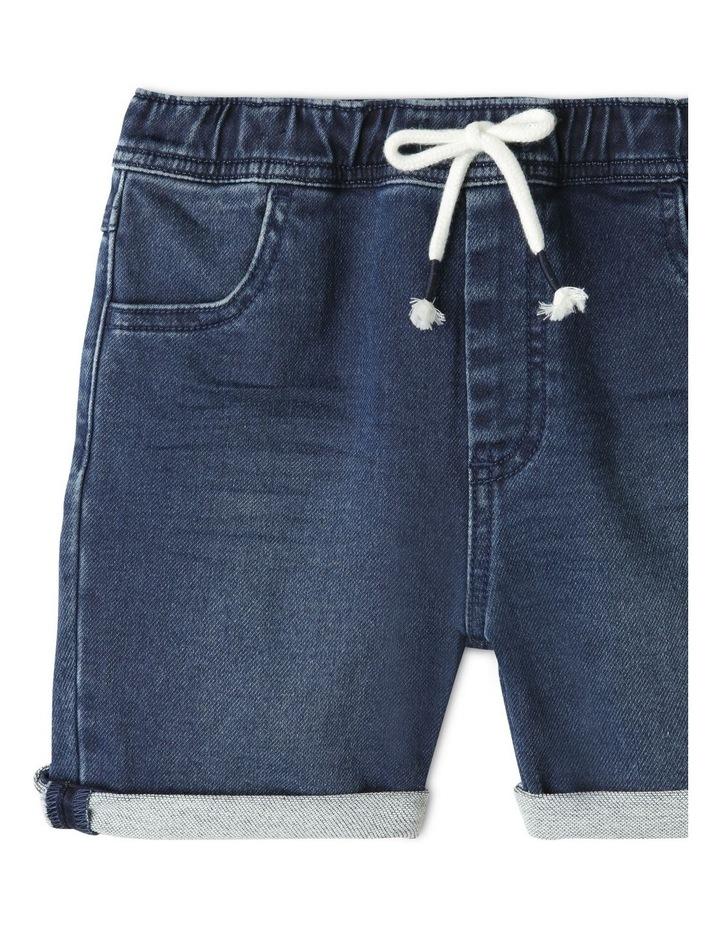 Knit Denim Shorts Indigo image 2