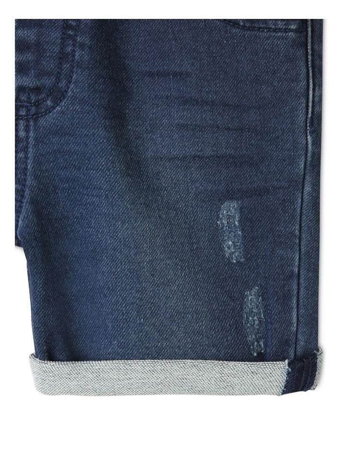 Knit Denim Shorts Indigo image 3