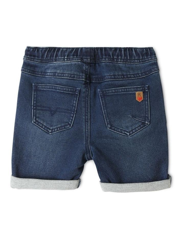 Knit Denim Shorts Indigo image 4