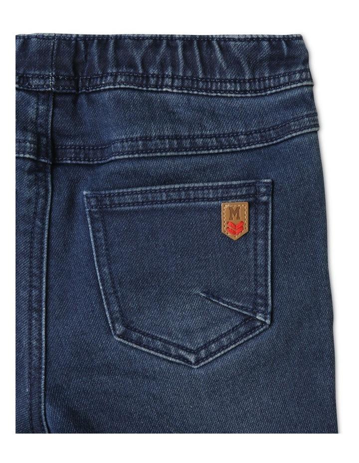 Knit Denim Shorts Indigo image 5