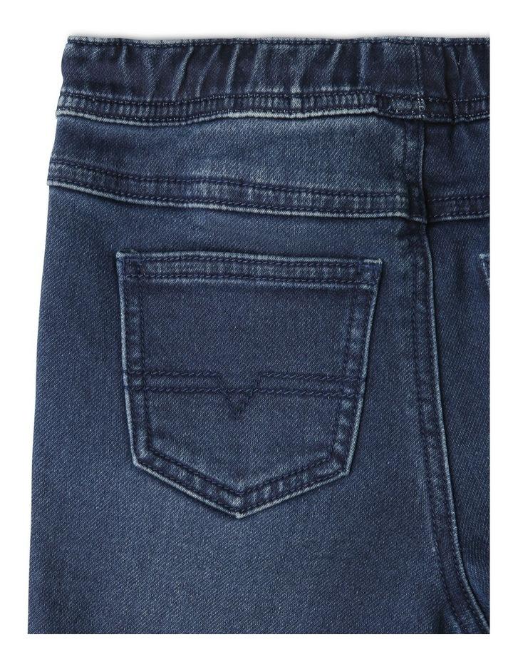 Knit Denim Shorts Indigo image 6