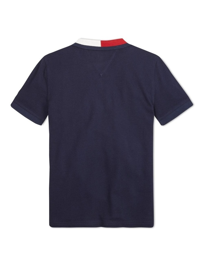 Colour-Blocked Flag Collar Polo image 2