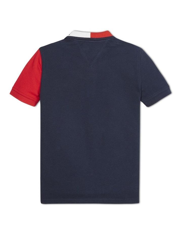 Boys 3-7 Colour-Blocked Logo Collar Polo image 2