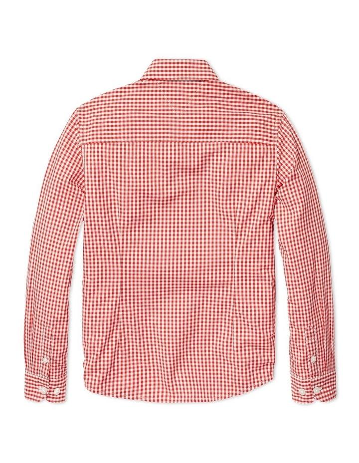Boys Gingham Shirt Long Sleeve image 2