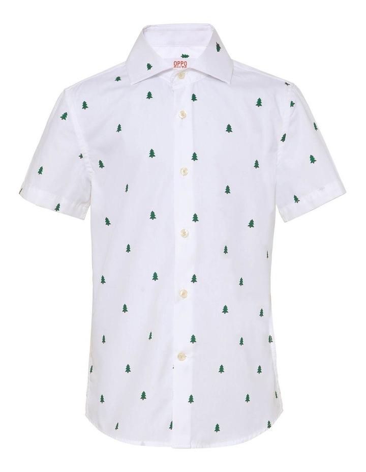 Boys Short Sleeve Christmas Trees Shirt image 1