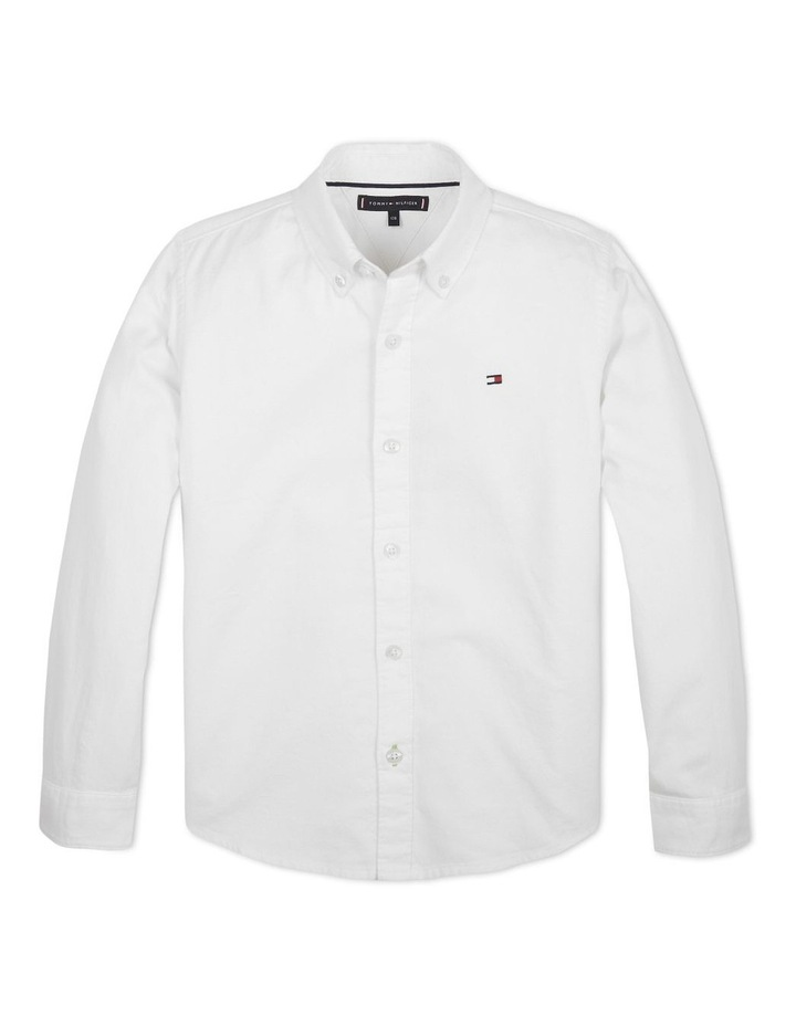 Boys 3-7 Essential Brushed Cotton Oxford Shirt image 1