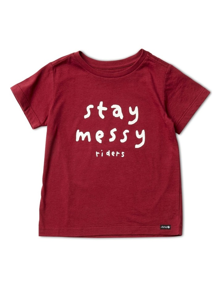 The Short Sleeve Tee Stay Messy image 1