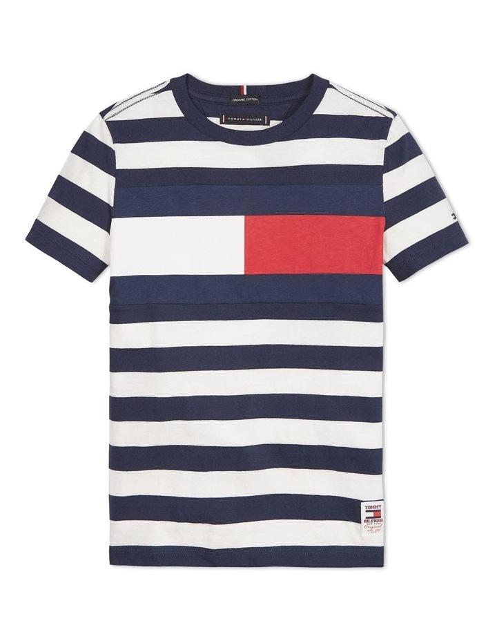Boys 3-7 Organic Cotton Stripe T-Shirt image 1