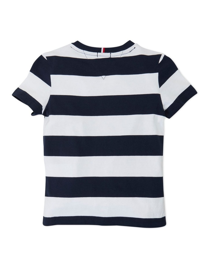 Boys Rugby Stripe Graphic Tee image 2