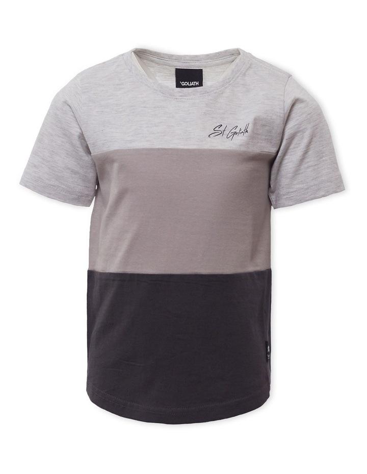 Colour Block Grey Marle T-Shirt image 1