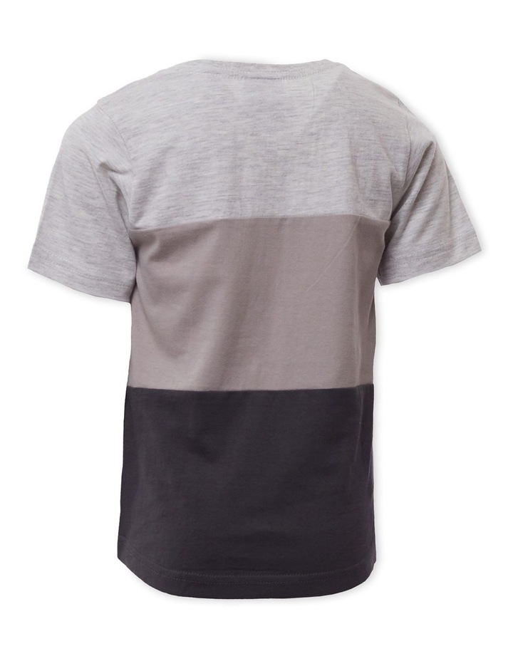 Colour Block Grey Marle T-Shirt image 2