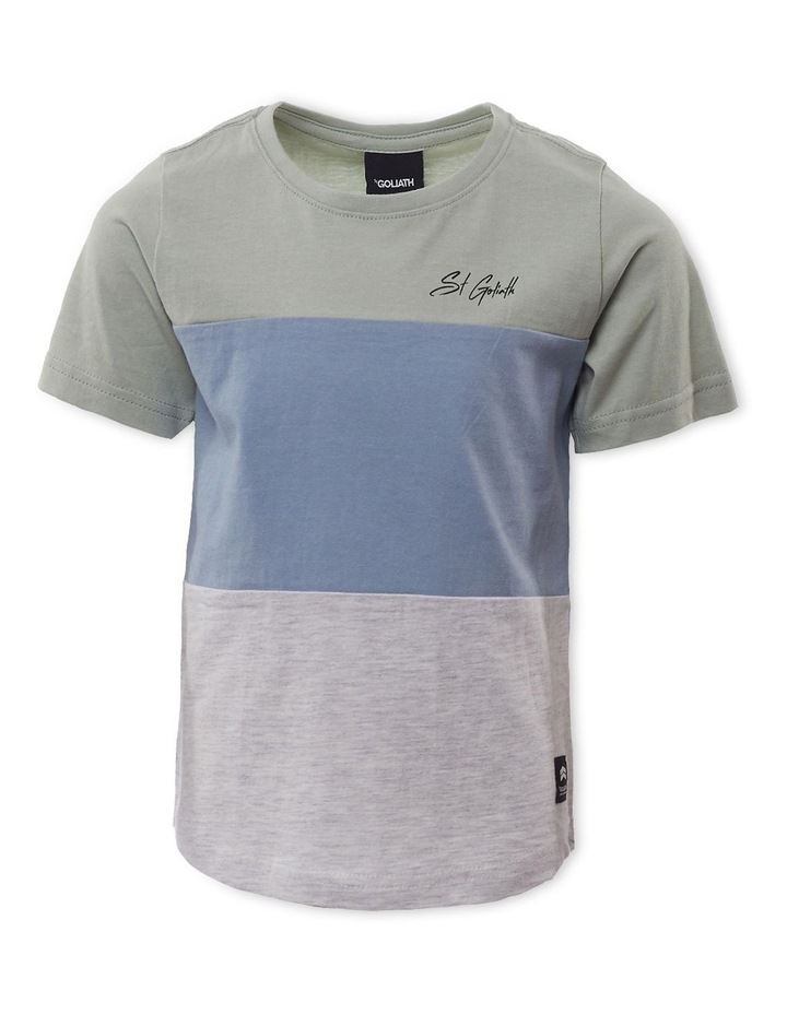 Colour Block Green T-Shirt image 1