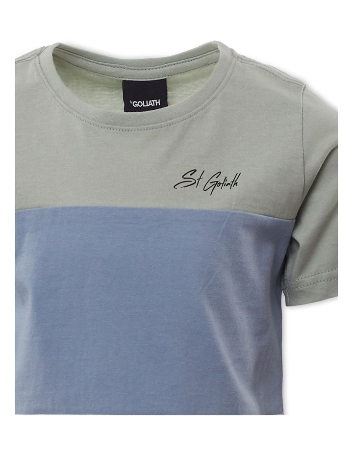 Colour Block Green T-Shirt image 3