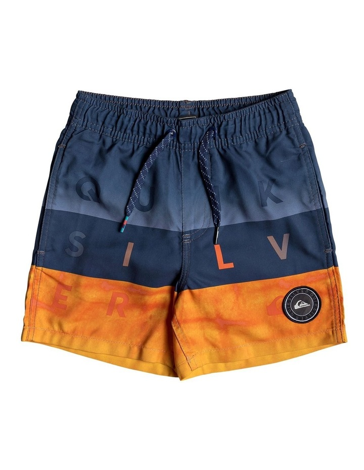Word Block 12 inch Swim Shorts image 1