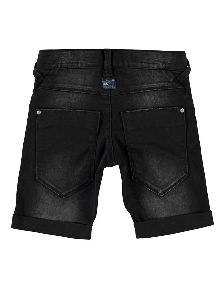 Black Denim Shorts image 2