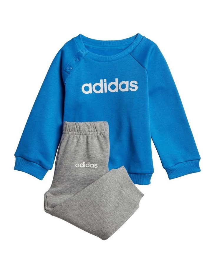 Blue Top and Grey Track Pants image 1