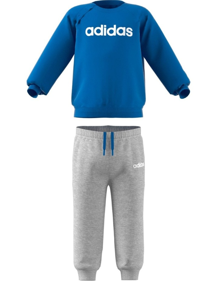 Blue Top and Grey Track Pants image 4