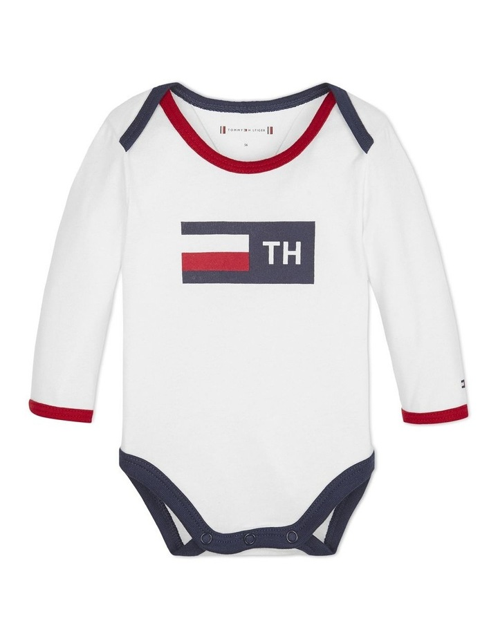 Baby Long-Sleeve Heart Bodysuit image 1