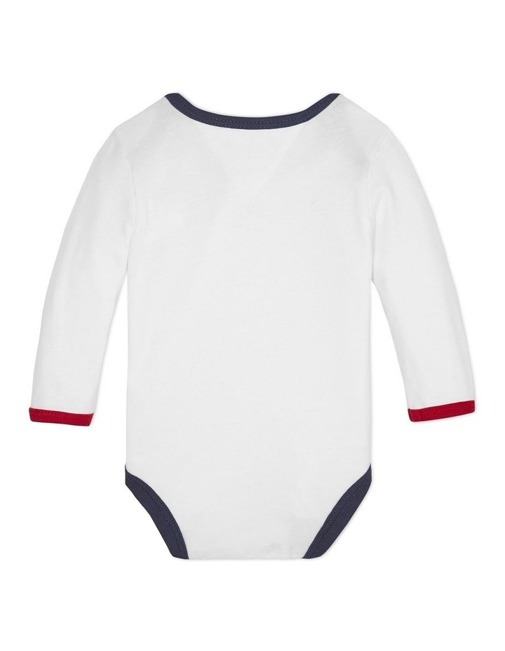 Baby Long-Sleeve Heart Bodysuit image 2