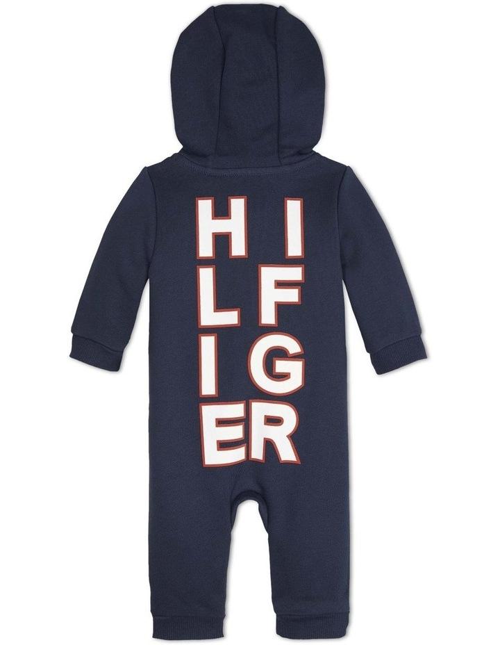 Baby Asymmetric Zip Hooded Bodysuit image 2