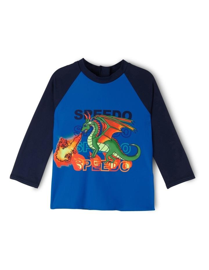 Toddler Boys Flaming Dragon Long Sleeve Rashie image 1
