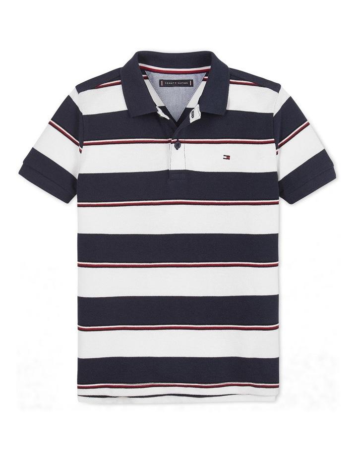 Global Stripe Detail Polo Short Sleeve image 1