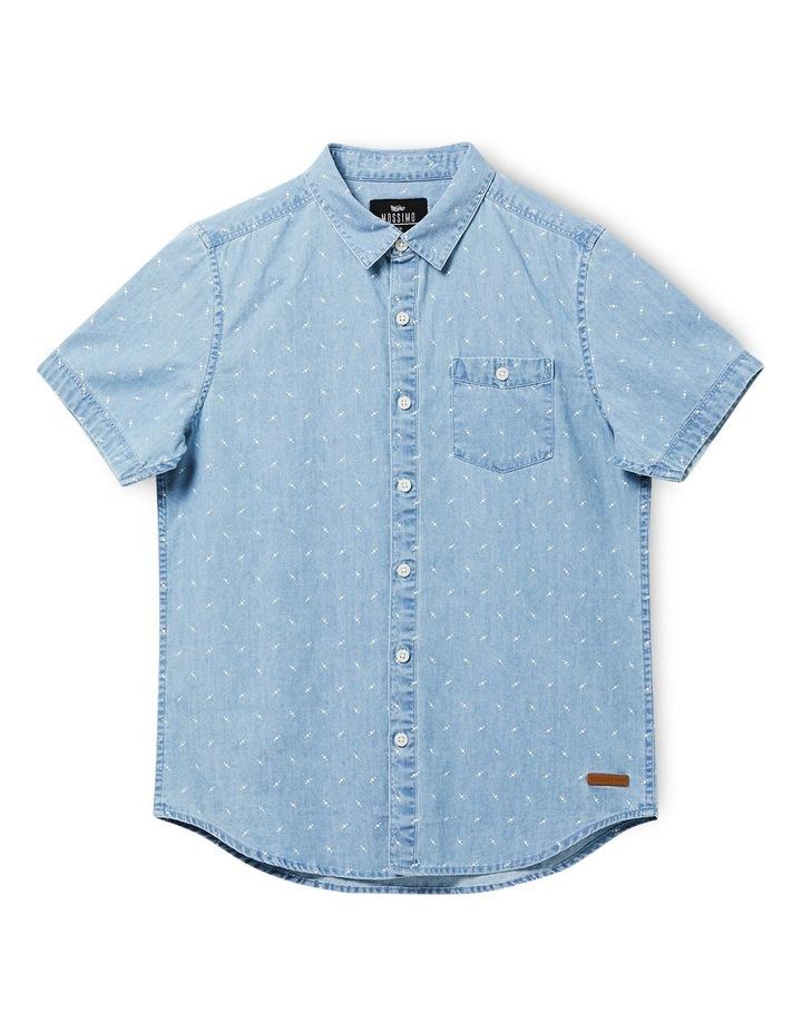Boys Byron Short Sleeve Denim Shirt 8-16 image 1