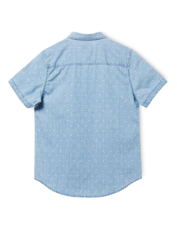 Boys Byron Short Sleeve Denim Shirt 8-16 image 2