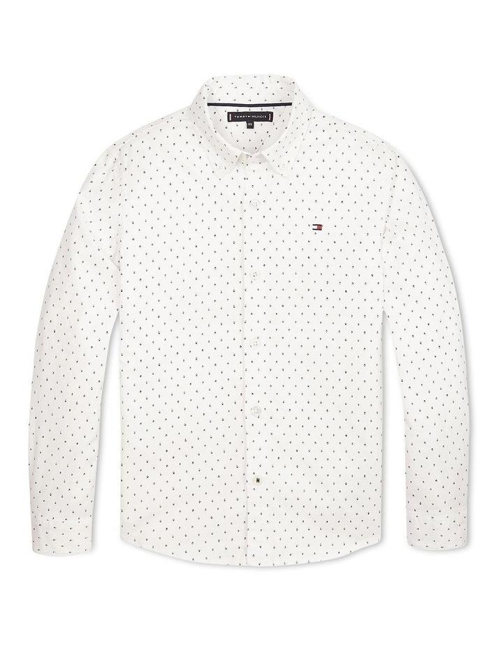 Micro Print Organic Cotton Blend Shirt image 1