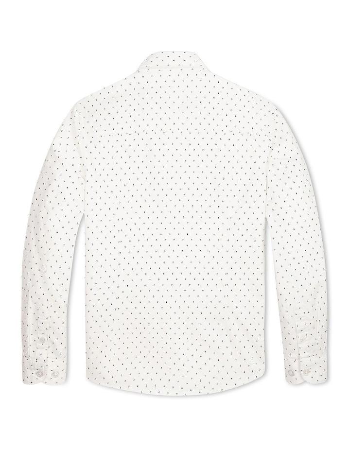 Micro Print Organic Cotton Blend Shirt image 2