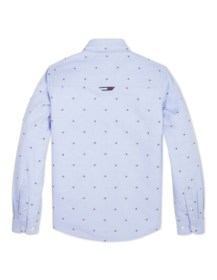 Boys 3-7 All-Over Flag Oxford Shirt image 2