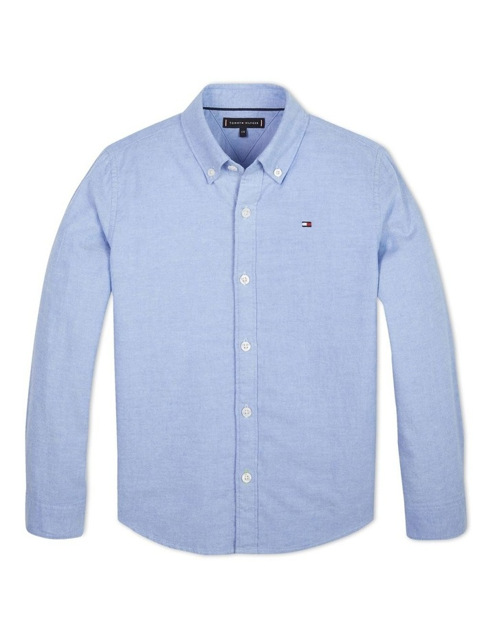 Boys 0-2 Essential Brushed Cotton Oxford Shirt image 1