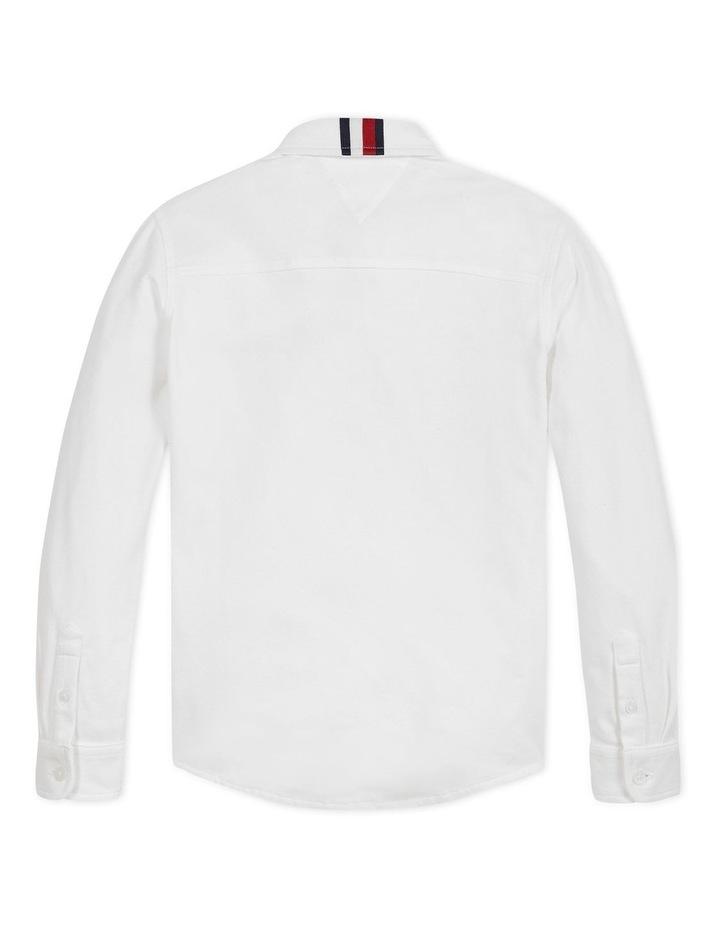 Boys Stretch Pique Shirt Long Sleeve image 2