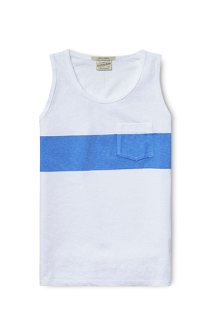SCOTCH SHRUNK - Sporty Tank Top With Printed Stripe
