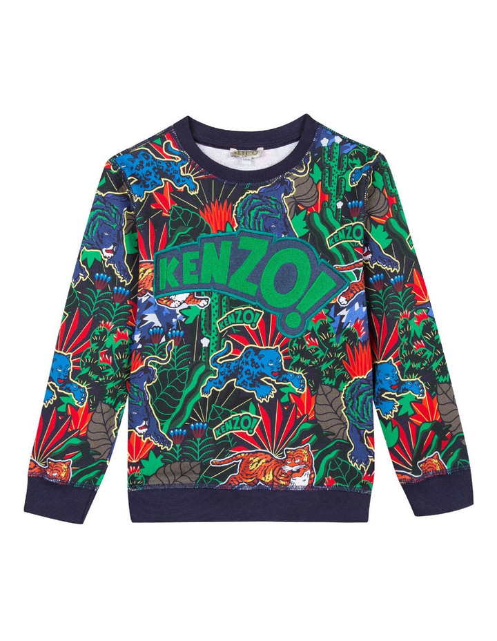 Boys Jungle Print Sweat Top KM15588 image 1
